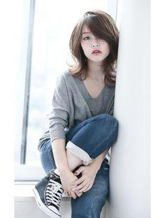 大人ミディアム。 Medium Long Hair, Medium Hair Styles, Curly Hair Styles, My Hairstyle, Cool Hairstyles, Hair Arrange, Hair Color And Cut, Asian Hair, Layered Hair