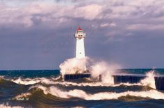 Lake Ontario lighthouse stormy by BellaBPhotography on Etsy, $15.00 for 5 x 7