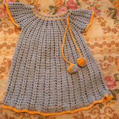 Krupp & Bauer Häkel und Strickmoden /Accessoires: Vestidos de croche para meninas e bebe - Häkelkleider - Mädschen und Baby