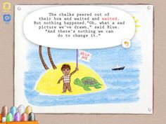 """FREE March 14th (reg 3.99) The Chalk Box Story, an interactive storybook for kids based on the classic tale by """"Corduroy"""""""