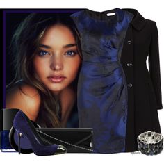 """Black and Navy Contest"" by angkclaxton on Polyvore"