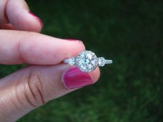 girls needs a mani but gorgeous ring...