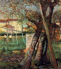 Countryside with Trees, 1908, Umberto Boccioni