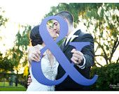"""18"""" Ampersand Photo Prop '&' Sign -  3/4"""" THICK - Painted in Choice of Color. $30.00, via Etsy."""