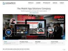 LeewayHertz agency: Mobile related services: Mobile App Development, Mobile Website Design, Mobile Strategy Consulting