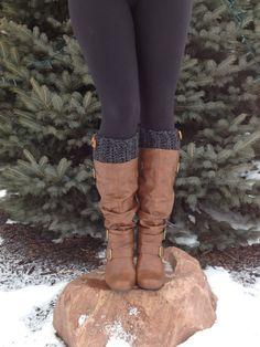 Poignets de Crochet Womens Boot, Boot Toppers, chaussettes chaussettes, jambières de Faux, de Boot Womens Boot, texturé et extensible, Peep chaussettes, trapu et épais