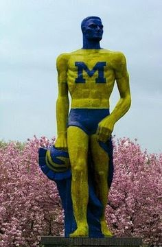 Sparty Painted Maize & Blue!!