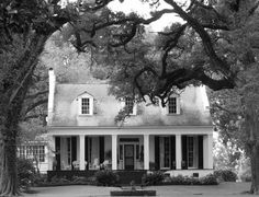 I'd love to have a house like this surrounded by oaks..simple living