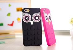 Cute Cartoon OWL Soft Rubber Phone Case Cover For iPhone 4 / 4s / 5 /
