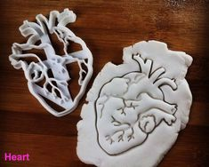 Anatomical Heart cookie cutter | Brain cookies cutters | biscuit cutter, Gifts for medical student science students | one of a kind | ooak. Check out that cool T-Shirt here: https://www.sunfrog.com/Funny-nurse-T-Shirt-Black-Ladies.html?53507