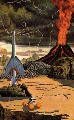 David Stone, Galaxy Magazine No. 2 (cover art), World Editions, 1964 / .Magic Transistor on Tumblr