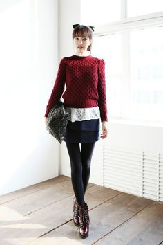 Punch Knit Pattern Top