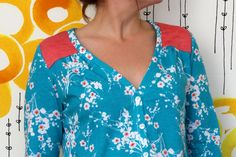 Beautiful Spring Camas Blouse posted on No Time To Sew