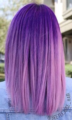 Purple ombré.