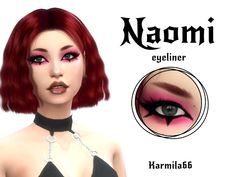 Karmila66's Naomi Eyeliner Los Sims 4 Mods, Sims 4 Body Mods, Sims 4 Game Mods, Sims 4 Tsr, The Sims 4 Skin, Sims 4 Anime, Sims 4 Traits, Sims 4 Collections, Pelo Sims