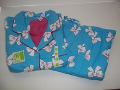 New Directions Size Large Blue White Pink Pajama Set with Socks New  #NewDirections #PajamaSets