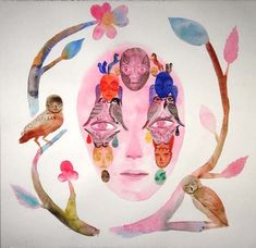Heidi Britt Anderson | ArtSlant Shops, Art Brut, Human Soul, Love Art, Cover Design, Disney Characters, Fictional Characters, Princess Zelda, Watercolor