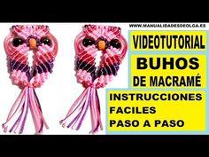 ▶ COMO HACER UN BUHO DE HILO CON NUDOS DE MACRAME. TUTORIAL DIY. KNOTS OWL . - YouTube