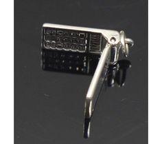 Flip Phone Charm Sterling Silver