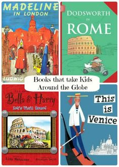 Take the kids on an adventure this summer with these great book series (and activities) that explore the globe! kid books, book lists, story books, globe activities, living books, travel books, reading a map, book series, geography kids