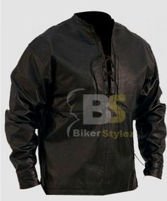 MEN'S LACE PULLOVER BLACK LEATHER OUTFIT