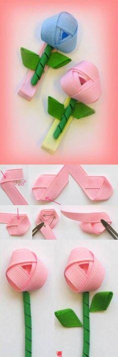 mini-rosas con cinta