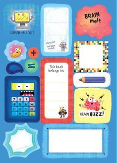Usborne See Inside: Back to school sticky labels