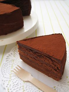 Japanese Decadent Chocolate Cake