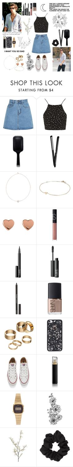 """""""i've got a heart and i've got a soul"""" by lu-fonsecaa ❤ liked on Polyvore featuring Topshop, GHD, Shop Latitude Bazaar, River Island, Ted Baker, NARS Cosmetics, Butter London, Apt. 9, Converse and HUGO"""