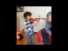 Child prodigy Caesar Sant practices violin [Suzuki Violin School Volume 4, Vivaldi Violin Concerto]; plays his favorite Vivaldi concerto, despite suffering a stroke 2 weeks ago due to sickle cell anemia—See more of young violinist #son_from_BASPGV