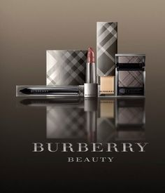 Burberry makeup ... I like the iconic plaid packaging.