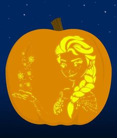 7. Elsa submitted by elsa.   18 Insanely Clever Pop Culture Stencils To Up Your Pumpkin Carving Game