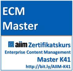 """PROJECT CONSULT Kurs """"AIIM ECM Enterprise Content Management Master"""""""