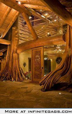Log Home.