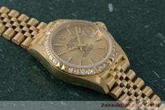 Rolex Lady Datejust 18k Gold Automatik Kal. 2135 Ref. 69268