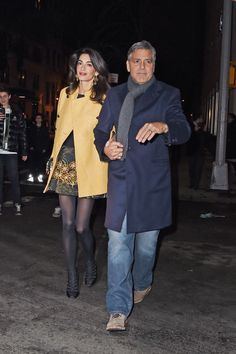 Leaving Japanese restaurant Kappo Masa with George Clooney in New York City. See all of Amal's best looks.