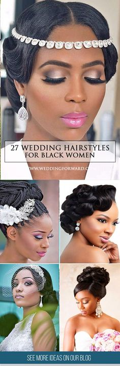 27 Black Women Wedding Hairstyles ❤ It is not a difficult task to pick the suitable black women wedding hairstyles that looks great. See more: http://www.weddingforward.com/black-women-wedding-hairstyles/ #weddings #hairstyles