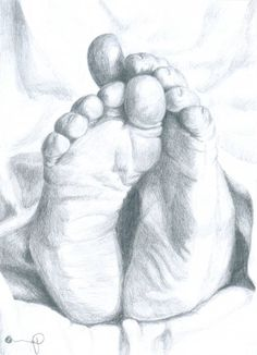Image detail for -pencil drawing of feet