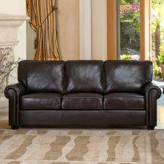 Westerville 2piece Italian Top Grain Leather Set 3400 new house