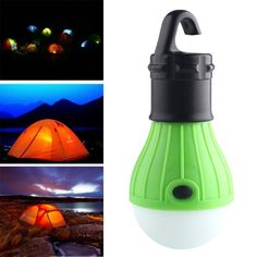 This eco orb lantern can fill your tent with soft, diffused light. It needn't be held by hands. It has a hook making it convenient for hanging. The bulb holder has a glow-in-the dark feature making it