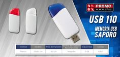 El artículo del día es la USB 110 MEMORIA USB SAPORO Se enciende LED de color al conectar. Conoce más de ella en www.promoopcion.com Material: Plástico Medida: 3.2x6.5 cm Área de impresión: 3x2 cm Técnica de impresión recomendada: Serigrafía Capacidad: 2 GB Colores: Rojo, Azul, Transparente  CONSULTA EXISTENCIAS Y PRECIOS CON TU EJECUTIVA DE CUENTA.