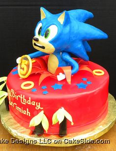 Sonic The Hedgehog Cake by Michelle's Cake Designs on www.cakeside.com!