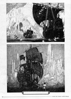 Nemo Franklin Booth and more Allen Saunders Franklin Booth, Tracing Art, Black And White Illustration, Fantasy Illustration, Illustrations And Posters, Ink Art, Japanese Art, Light In The Dark, Comic Art