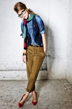 Menswear as Womenswear ... Dsquared Prefall 2012