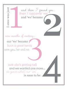 Pregnancy Poem Announcement by LifesLittleAdventure on Etsy