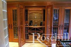 Built-In #wine cellar - Custom #wineracking from Rosehill Wine Cellars