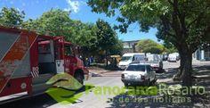 ecinos de Amenábar y Cafferatta tuvieron que ser desalojados esta mañana al producirse la rotura de ...