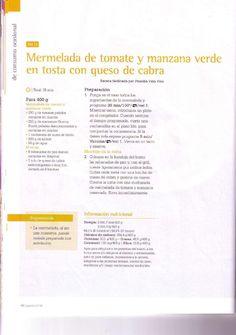 MERMELADA DE TOMATE Y MANZANA VERDE CON TOSTA CON QUESO DE CABRA