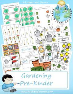 Gardening PreK Pack