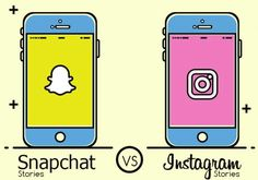 This infographic looks at Snapchat vs Instagram Stories side-by-side to highlight the key differences between the two.